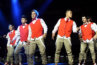 Justice Crew - Justice Crew performing during One Direction's Up All Night Tour in Sydney