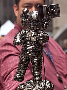 KAWS Moonman - 2013 MTV Video Music Awards.jpg