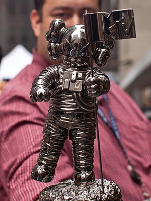 Kaws - Kaws's MTV Moonman trophy