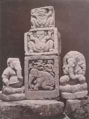 KITLV 87704 - Isidore van Kinsbergen - Hindu-Javanese sculptures, including sculptures of Ganseha coming from the Dijeng plateau - Before 1900.tif
