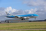 KLM Boeing 747-400 PH-BFS landing at EHAM 12.jpg
