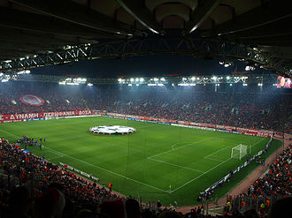 Derby of the eternal enemies - Georgios Karaiskakis Stadium, home of Olympiacos
