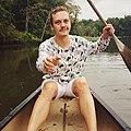 Kargaltsev in rowing boat.jpg