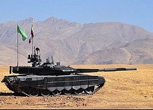 Karrar (tank) - Image: Karrar (Iranian tank) 01
