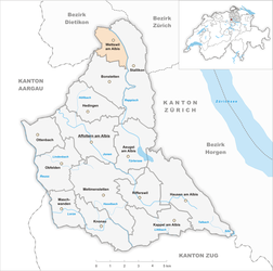Wettswil am Albis – Mappa