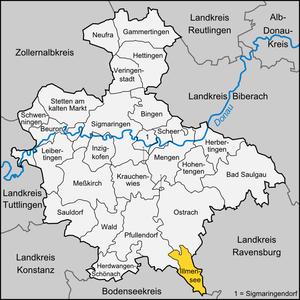 Illmensee - Image: Karte Illmensee
