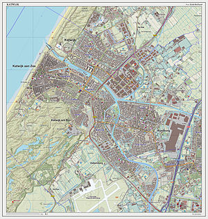 Katwijk - Dutch Topographic map of Katwijk (urban area), March 2014