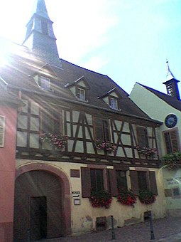 Albert Schweitzer's birthplace in Kaysersberg, now in Alsace in France KaysersbergAS.jpg