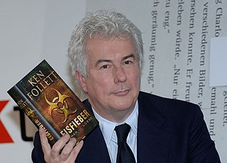 Whiteout (Follett novel) - Image: Ken Follett with his book Eisfieber (English 'Whiteout')