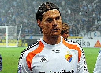 Kenneth Høie - Høie playing for Djurgårdens IF