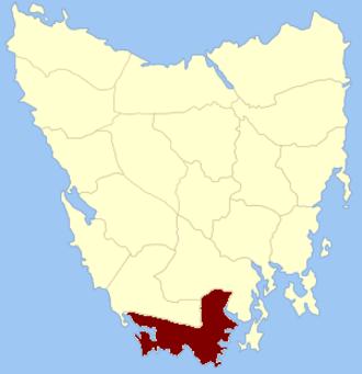 Kent Land District, Tasmania - Location in Tasmania