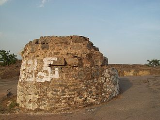 Khammam Fort - Stone Gallows, locally believed to be a Ghee well on top of the fort