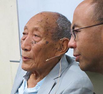 Khyongla Rato - Khyongla Rato teaching at The Tibet Center in September 2014 (with his translator, Tenzin Gelek, on the right)