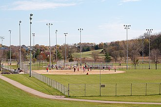 Kickball - A game in Madison, Wisconsin, 2006.