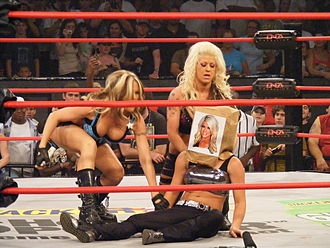 Angelina Love - Love and Sky evicting Rayne from The Beautiful People