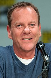 "Kiefer Sutherland speaking at the 2014 San Diego Comic Con International, for ""24: Live Another Day"", at the San Diego Convention Center in San Diego, California."