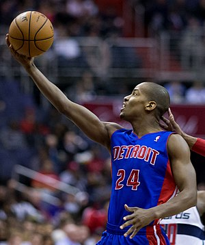 Kim English (basketball) - English during his tenure with the Detroit Pistons