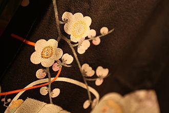 Japanese craft - Yūzen detail of a kimono