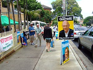 Peter Garrett - A polling booth, 2007 election.