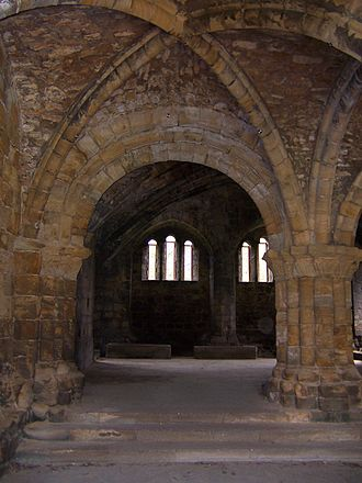 Kirkstall Abbey - Chapter House of the abbey