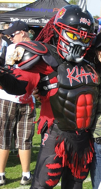 Orlando Predators - Predators mascot, Klaw, in 2007