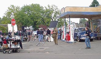 Woodburn, Oregon - Chris Klein filming Hallmark Hall of Fame Production The Valley of Light in downtown Woodburn