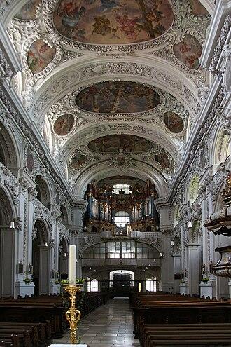 Waldsassen Abbey - Image: Kloster Waldsassen interior 2