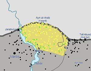 YPG–FSA relations - Image: Kobani Canton post siege, April 29, 2015