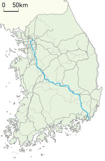 railway line in South Korea