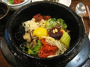 Bibimbap, a Korean dish