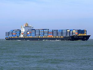 Kota Laju p05 approaching Port of Rotterdam, Holland 19-Apr-2007.jpg