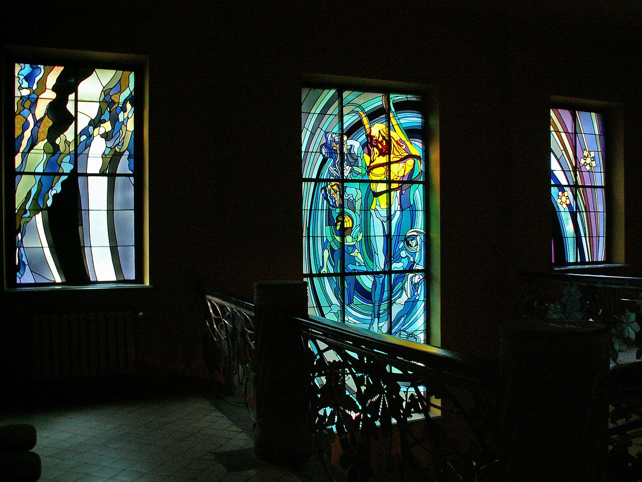 File Krakow Medical Society House Stained Glass Windows