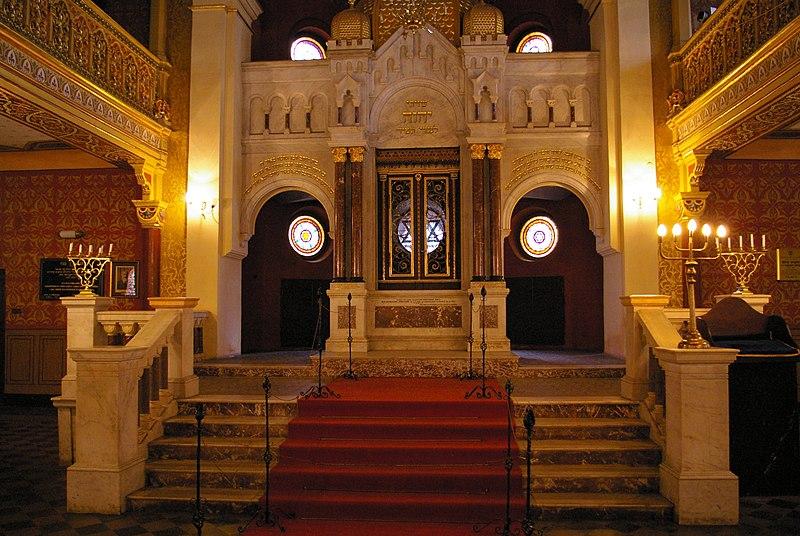 Autel de la synagogue réformiste Tempel à Cracovie. Photo de Jakub Hałun.