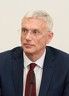 Arturs Krišjānis Kariņš Prime Minister of Latvia (2019-present)