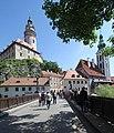 Krumau-28-Schloss und St Jobst von Lazebnicky most-gje.jpg