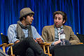 Kunal Nayyar and Simon Helberg at PaleyFest 2013.jpg