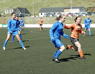 Skála ÍF - Skála has also a team in the women's best division, here they play against FC Suðuroy.