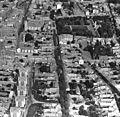 Légifotó, középen a Szent Antal utca, jobbra fent a Déri-kert. Fortepan 76714.jpg