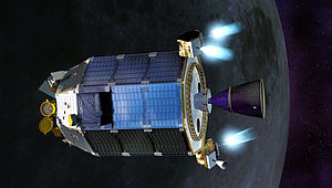 Lunar Atmosphere and Dust Environment Explorer - Artist concept of LADEE firing thrusters