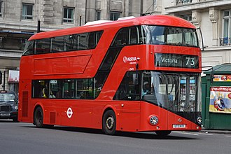 Bus - A New Routemaster double-decker bus, operating for Arriva London on London Buses route 73