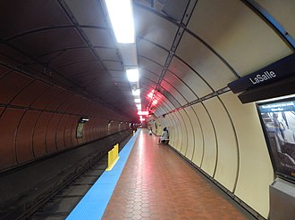 LaSalle station (Buffalo Metro Rail) - Lasalle station's inbound platform