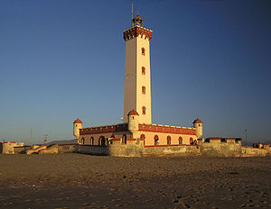 Spanish Colonial Revival architecture - Lighthouse of La Serena, Chile, was built in 1950 as part of Gabriel González Videla's Plan Serena that introduced a neocolonial theme to the city centre