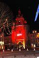 La Tour de la Grosse Horloge illuminée, Noël 2009 (1).JPG