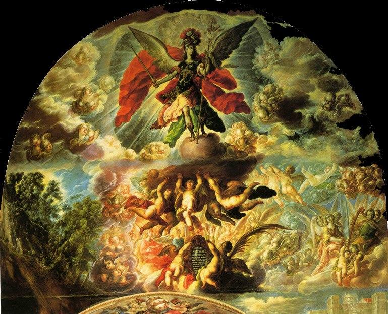 La aparición de San Miguel - Cristóbal de Villalpando
