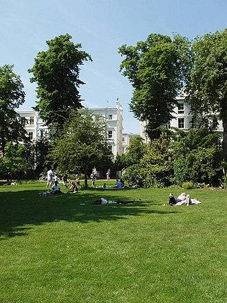 Ladbroke Square - View of Ladbroke Square gardens.