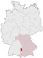 Lage des Landkreises Günzburg in Deutschland.PNG