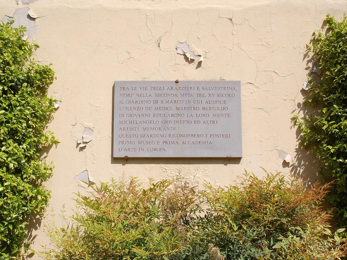 Jardín de San Marcos (Florencia) - Wikipedia, la enciclopedia libre