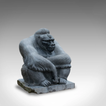 Shabani sculpted from a 5 tonne solid block of Kilkenny marble by Dominic Hurley