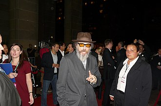 Larry Charles - Talking with fans outside TIFF premiere of Religulous, 2008
