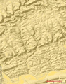 Larrys Creek Watershed Relief Map.PNG